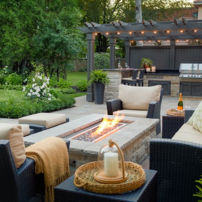 Backyard Firepit area